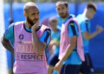 Italia, pendiente de Candreva; y Buffon está con fiebre