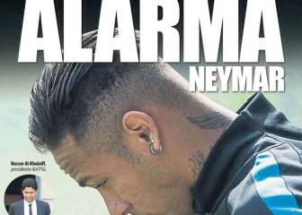 Prensa de Barcelona: alarma Neymar, el PSG va en serio