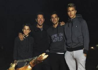 Simeone celebró con un asado el día del padre en Argentina