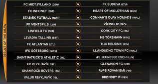 Cruces de la primera ronda previa de la Europa League