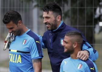 Buffon se unió al grupo en el último entrenamiento