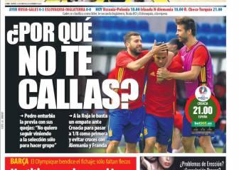 Palo de la prensa catalana a Pedro: