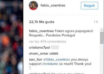 Coentrao defiende a Cristiano: