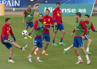 Koke jugó junto a Iniesta: posible novedad ante Italia