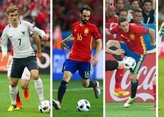 Griezmann, Juanfran, Carrasco y Koke, en octavos de la Euro