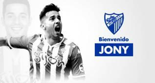 El Málaga hace oficial el fichaje de Jony por cuatro temporadas