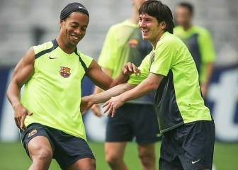 Ronaldinho felicita a Messi por su cumpleaños: