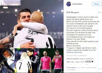 Zaza se despide de Morata: