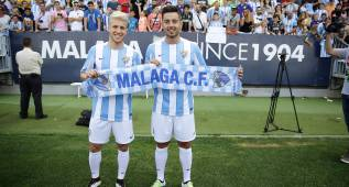 El Málaga presenta a su nuevos puñales: Keko y Jony