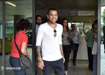 Alves pasará reconocimiento con la Juve la mañana del lunes
