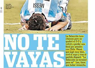 Argentina and the world begs Messi: