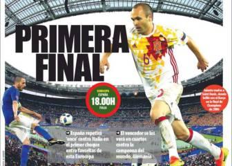 La prensa de Barcelona, con España y con Iniesta