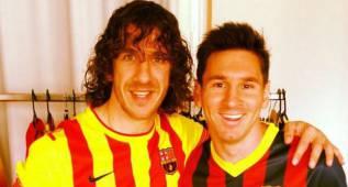 """Puyol también mima a Messi: """"¡Animo, Leo, eres el mejor!"""""""