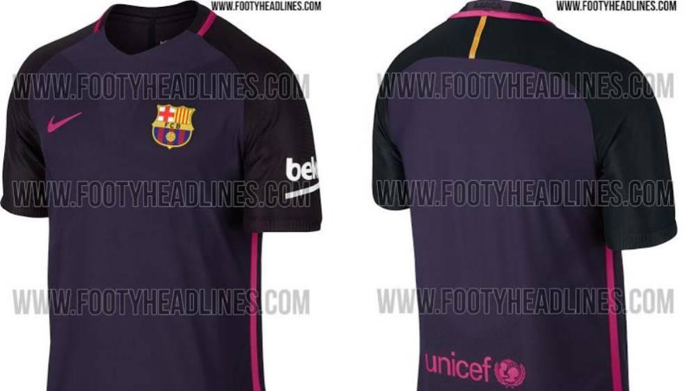 ee4a7bc07b Esta es la supuesta segunda equipación del Barcelona para la temporada  2016 17.