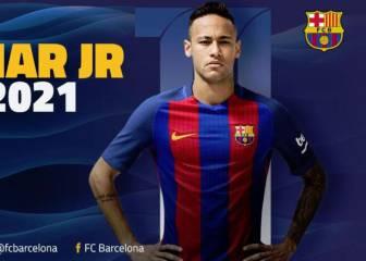 Oficial: Neymar renueva y su cláusula llegará a 250M€