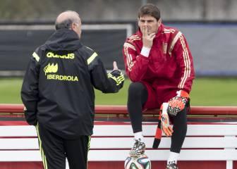 Casillas no dejará España ni responderá a Del Bosque