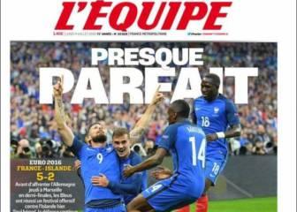 """Francia conquista a la Prensa gala: """"Casi perfecto"""""""