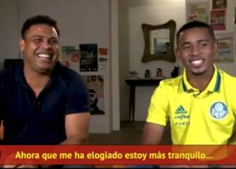"""Ronaldo: """"Gabriel Jesús tiene un gran futuro por delante"""""""