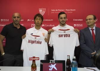 Sarabia y Kiyotake ya lucen como jugadores del Sevilla