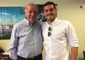 Iker Casillas dio el paso para la paz con Vicente del Bosque