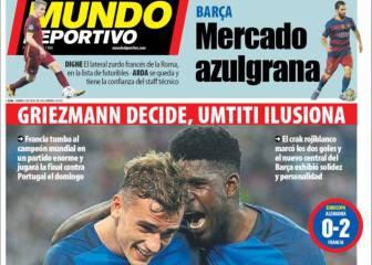 La prensa catalana ensalza a Umtiti y Digne entra en escena