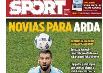 Arda y Bravo mandan en las portadas de Barcelona