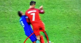 El momento en que la rodilla de Cristiano se dobló en la final