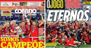 Las portadas que recordarán los portugueses toda la vida