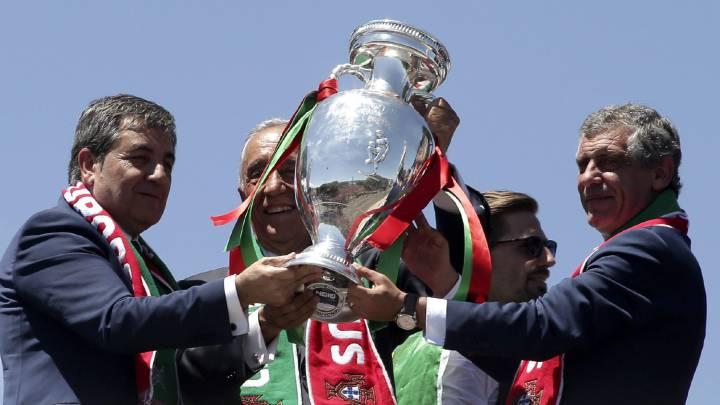El presidente de Portugal: \