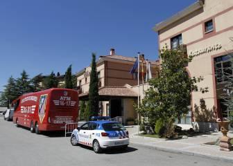 El Atlético se bunkeriza en San Rafael con su cambio de hotel
