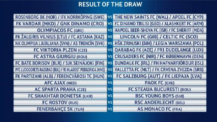 Saint Etienne-AEK en tercera ronda de la Europa League