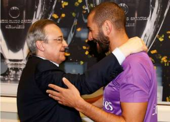Florentino Pérez recibió a los jugadores en Valdebebas