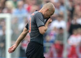 Primer disgusto para Ancelotti: Robben, seis semanas de baja