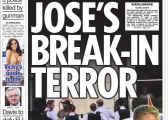 Intentaron robar en la casa de Mourinho mientras veía la Euro
