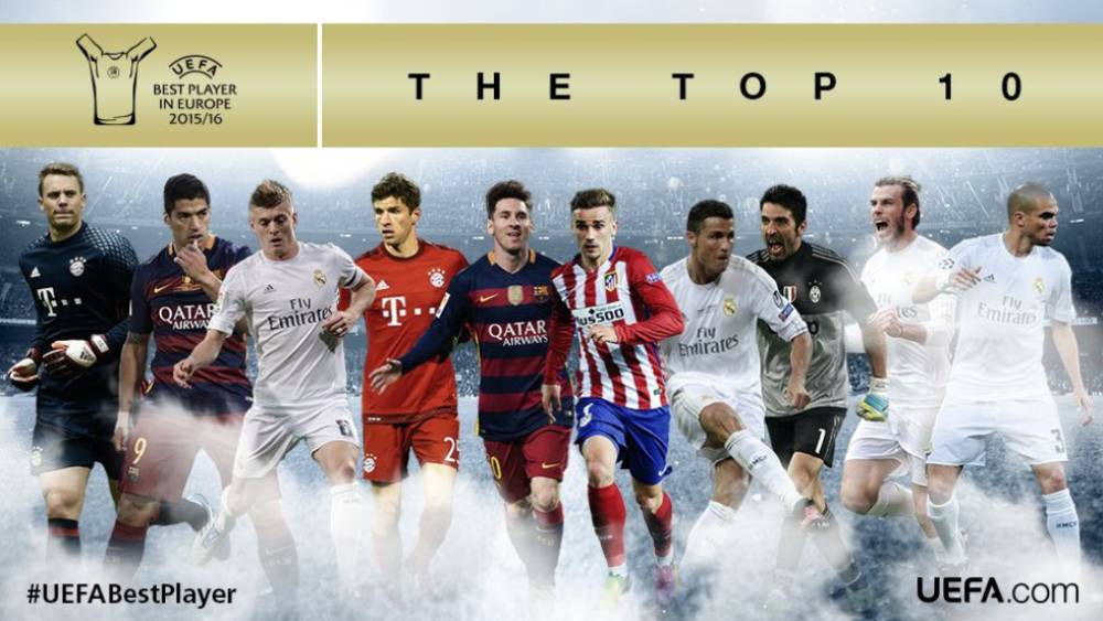 UEFA Reveals Best Player in Europe Award Shortlist