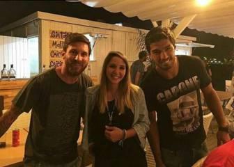Messi y Suárez, juntos hasta de vacaciones en Castelldefels