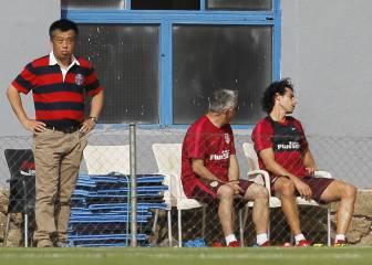 Tiago y Giménez se retiraron lesionados del entrenamiento