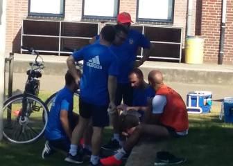 Abdennour se retira del entrenamiento por lesión