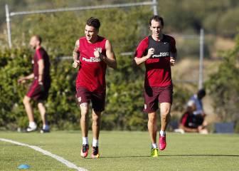 Giménez ya hace carrera continua; Óliver, con el grupo