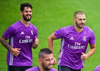 Buenas noticias para Zidane: Benzema ya corre con el grupo
