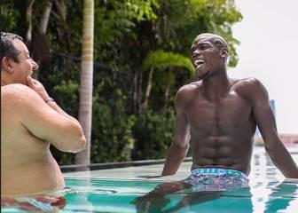 Pogba y Raiola hablan en la piscina... ¿de su próximo club?