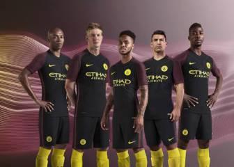 El Manchester City presentó su nueva segunda equipación