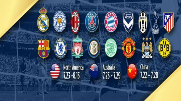 Cómo ver la International Champions Cup: horarios y TV