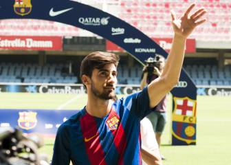 La presentación de André Gomes con el Barcelona en imágenes