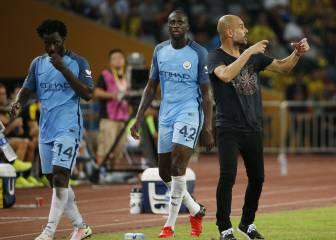 Guardiola, descontento con Yaya Touré y Bony: jugaron 40'
