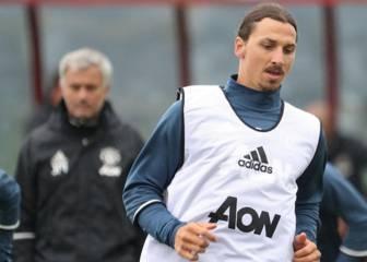 Primer entrenamiento de Ibrahimovic con el United