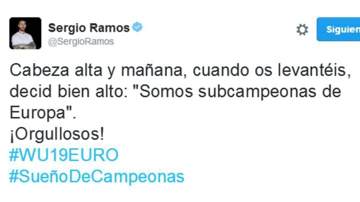 "Mensaje de Ramos a las Sub-19: ""Cabeza alta, ¡orgullosos!"""