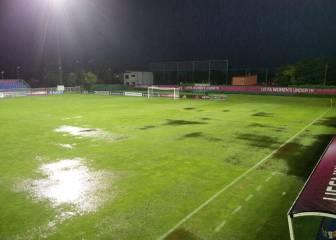 El campo de la final suele tener problemas de drenaje
