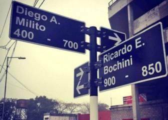 Desaparece el cartel de la calle a Diego Milito a los tres días