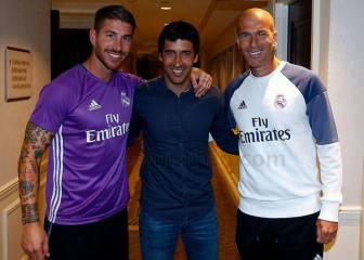 Raúl ejerció de anfitrión de lujo del Real Madrid en Nueva York